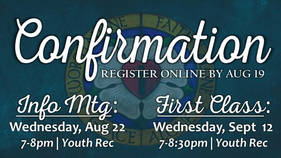 Confirmation Registration