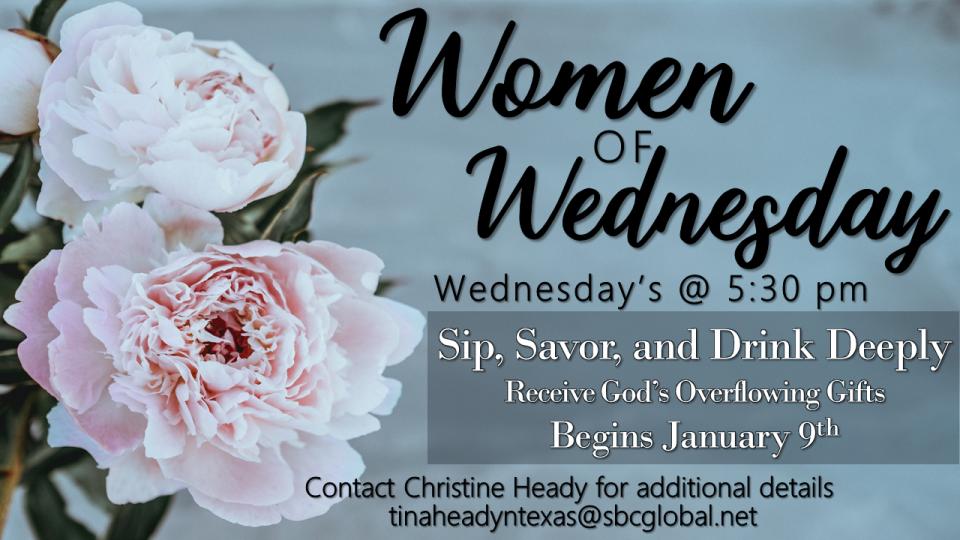 Women Of Wednesday Bible Study